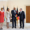 King Letsie III of Lesotho arrive in Berlin