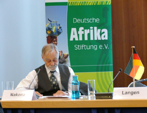 An official of the German Africa Foundation/Photo: Karin Singh
