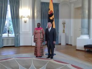 President Joachim Gauck pictured with Ambassador Akua Sena Dansua/Photo: Musah Ibrahim Musah