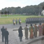 Honour Guard of the German Armed Forces welcomes Ambassador Sena Dansua at Castle Bellevue/Photo: MIM