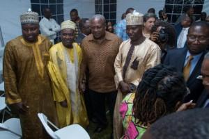 President Mahama with executives of Yankasa Muslim group in New York/Photo: George Azirigo