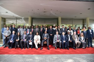 President Uhuru Kenyatta (seated middle) with delegates at the conference/Photo: WTO
