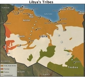 Contemporary Libya is less a nation than a geographical construct populated by competing and often interlocking tribes and clans. The Zintan (here Zentan) of the western regions and the Misrata (here Misurata) are perhaps the most prominent today locked in a deadly battle for control of the country and its resources.