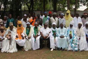 President-elect Nana Addo Dankwa Akufo-Addo and his vice Dr Mahamudu Bawumia in a group photo with some Zongo Chiefs.